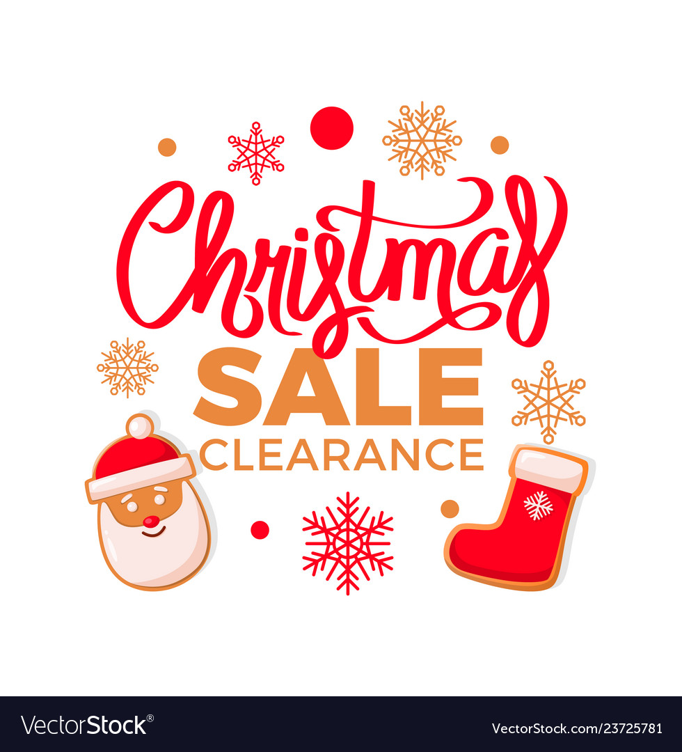 Christmas sale clearance santa claus and stockings