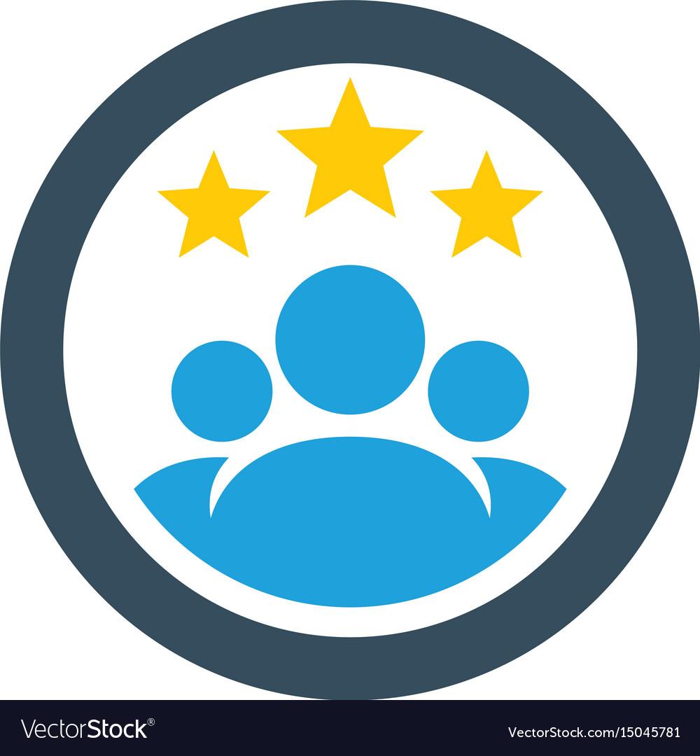 Circle teamwork star