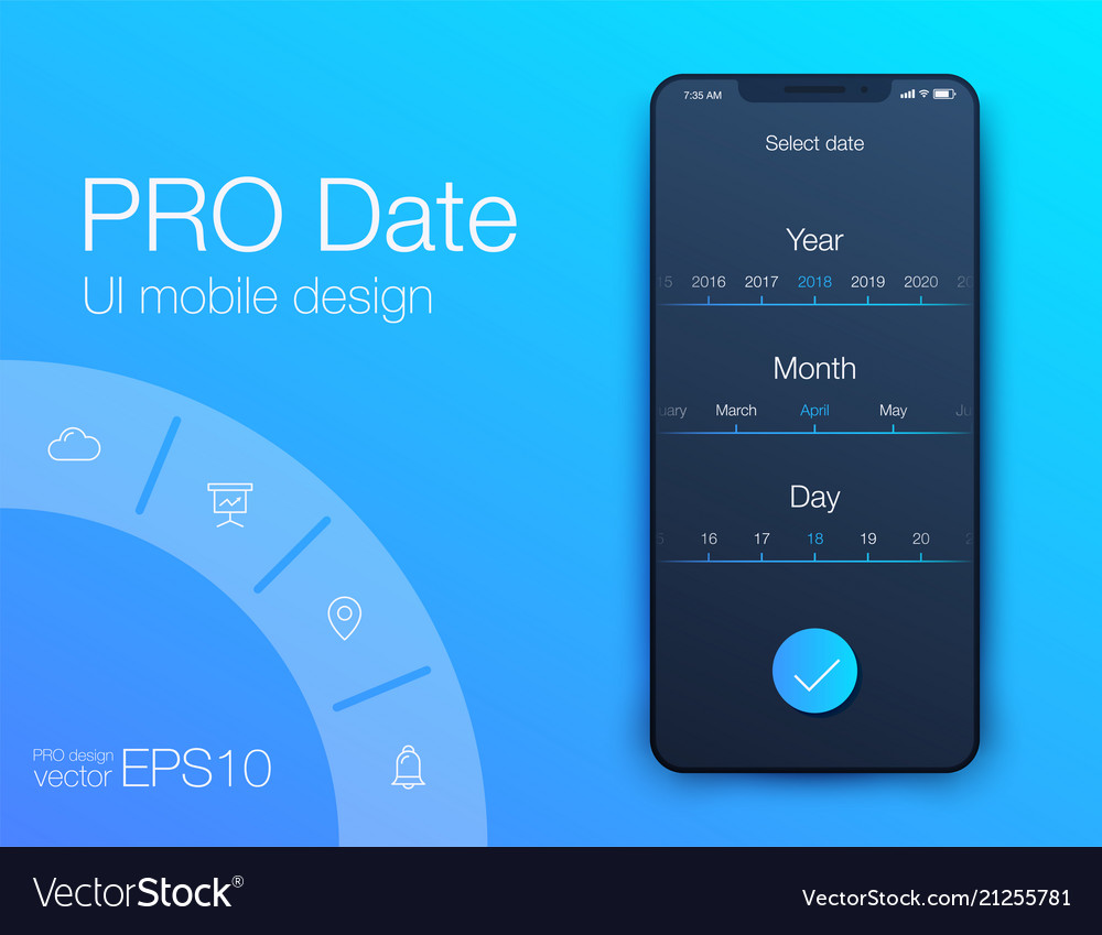 Date application ui design concept