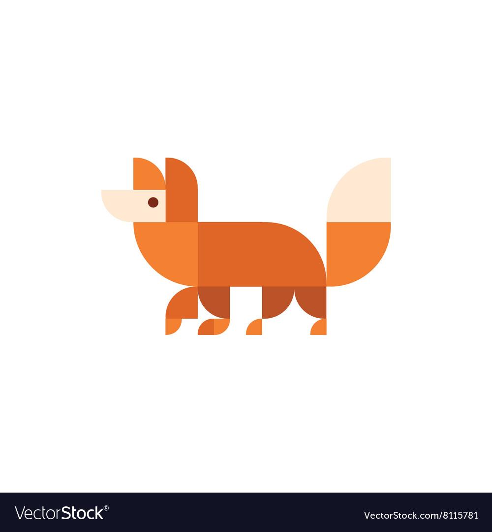 Fox animal orange design logo trends vector image