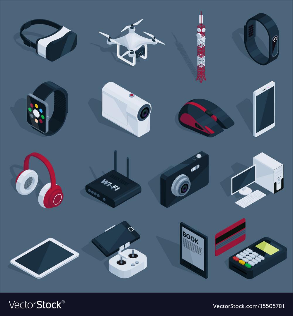 Isometric technology devices set