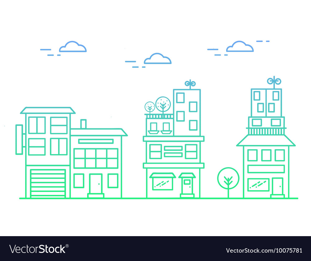 Linear houses