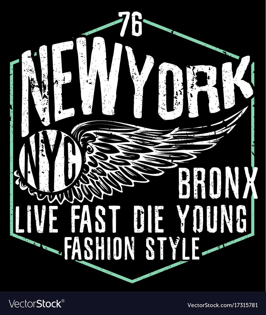 Newyork city typography graphic design