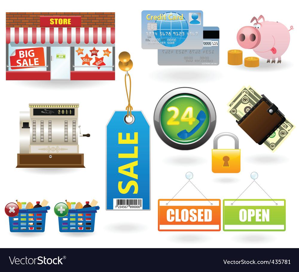 Shopping icon set2