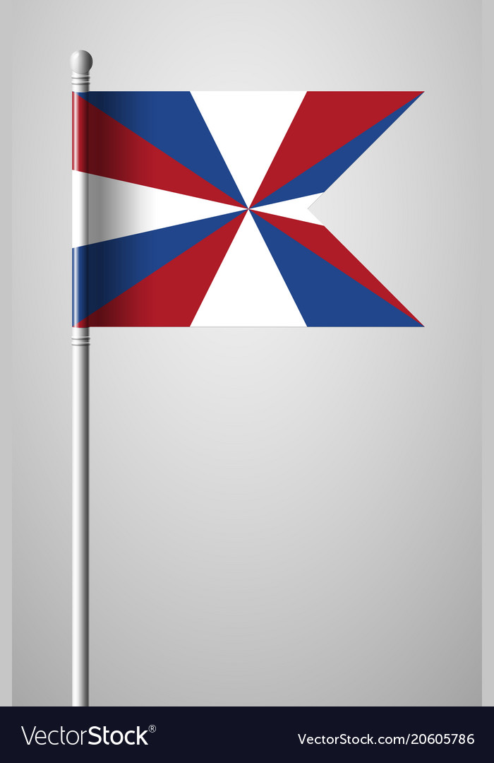 dutch flag the prinsengeus national flag on vector image rh vectorstock com Blue Flag Vector Flag Vector Black