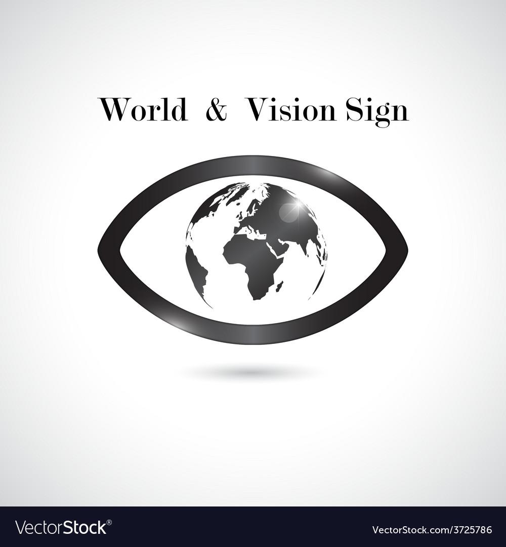 Global vision signeye icon vector image
