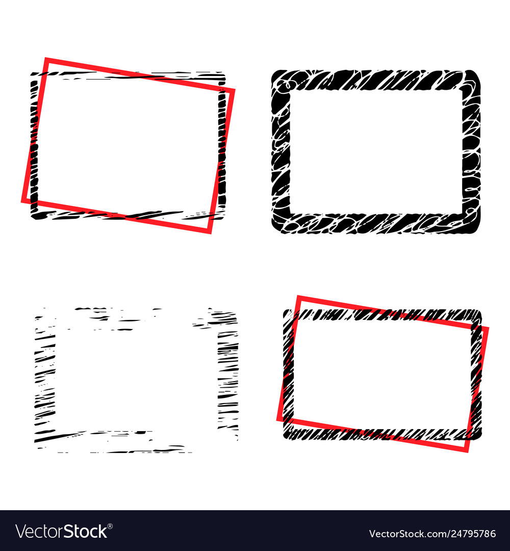Grunge borders set with place for your text