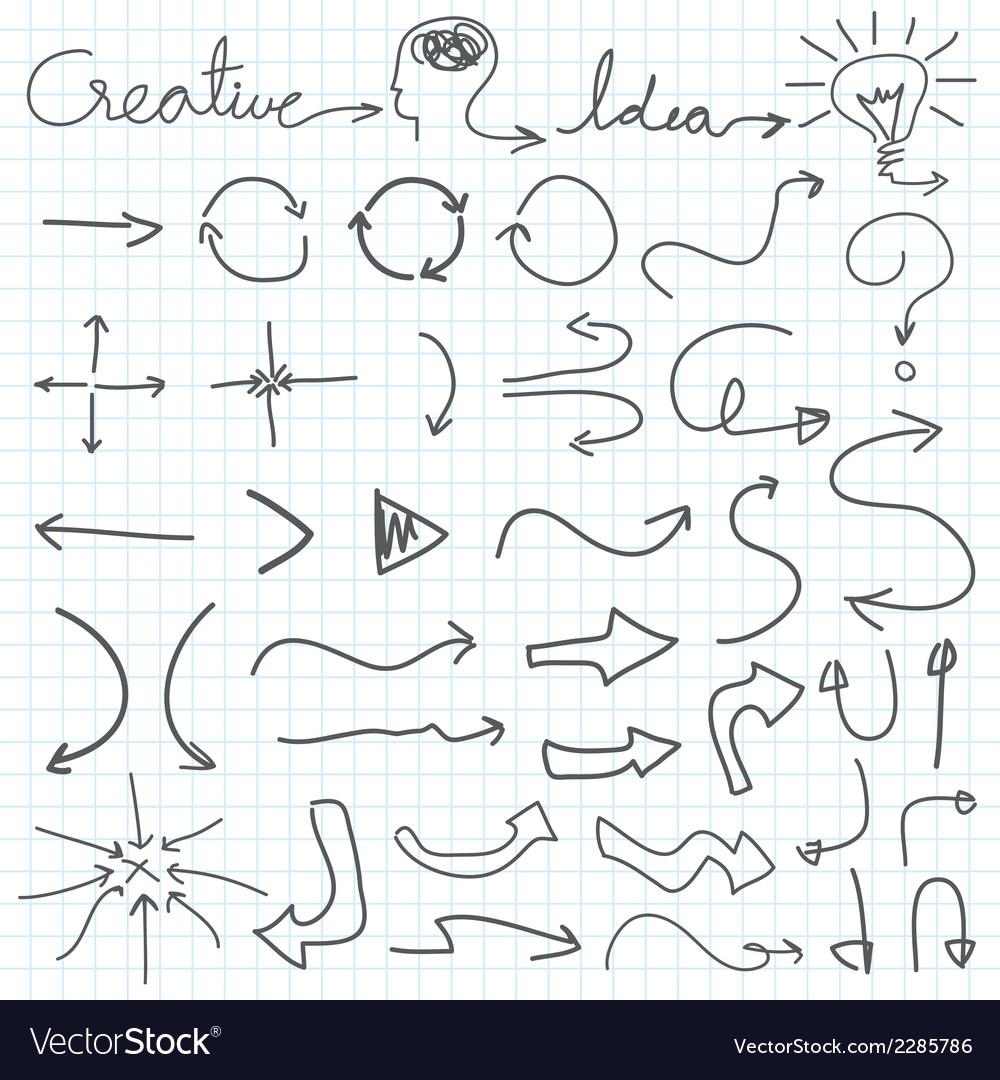 hand drawn arrow royalty free vector image vectorstock