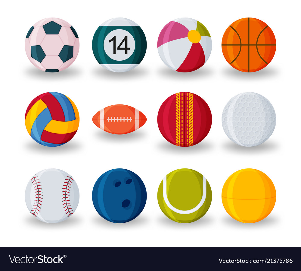Realistic sport balls set isolated on white