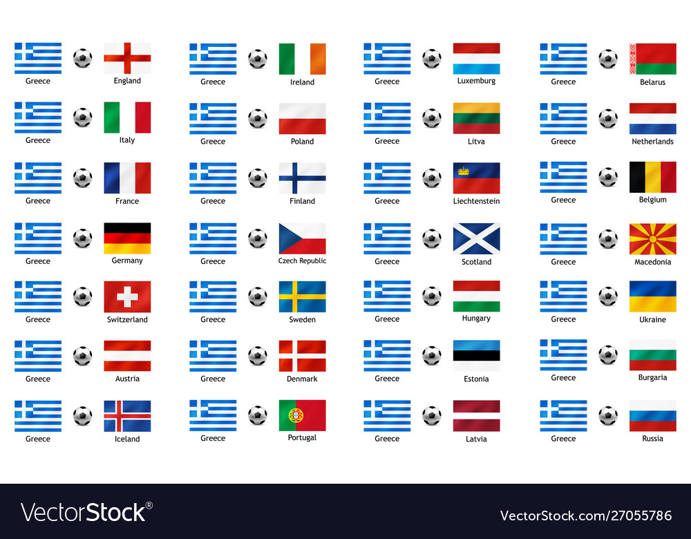 Set banners with flags to the