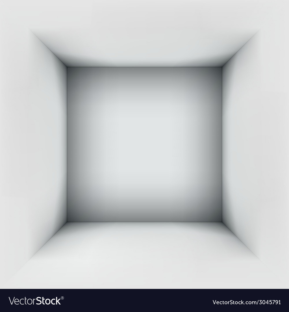 3d abstract clean room