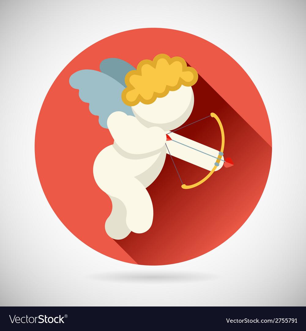 Angel of Love Cherub Symbol Baby Boy with a bow