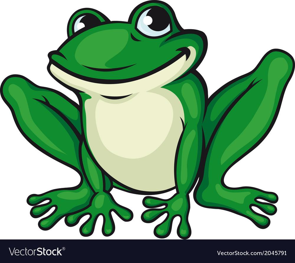 big green frog royalty free vector image vectorstock rh vectorstock com