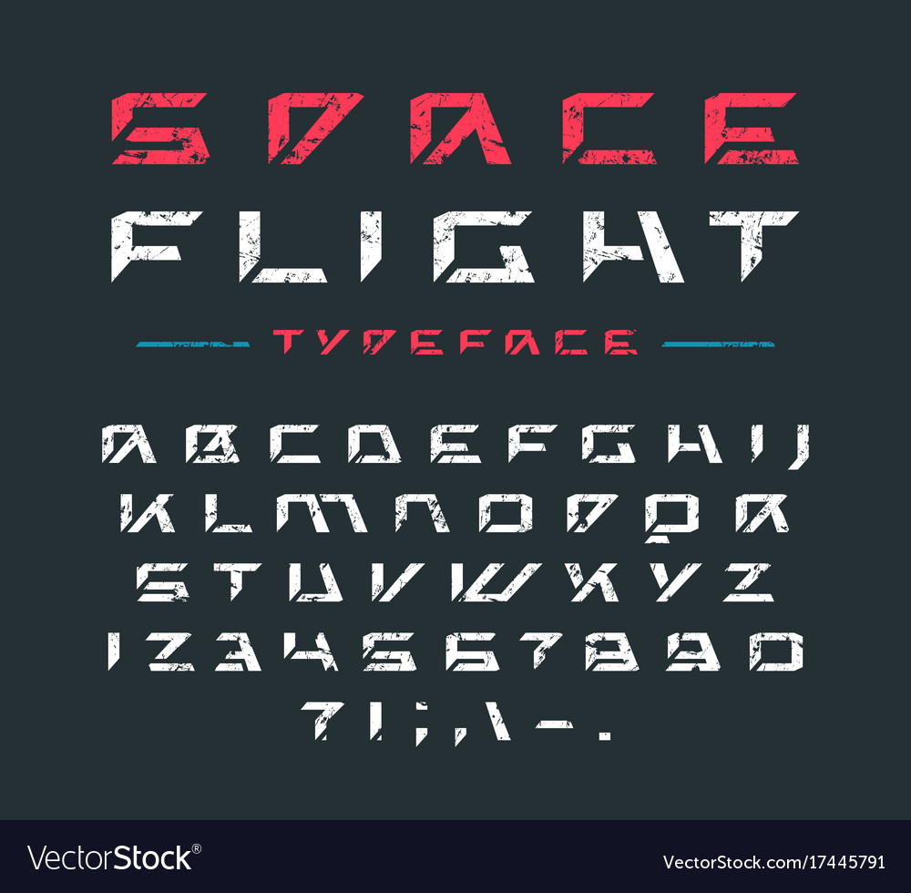 Futuristic font with rust texture
