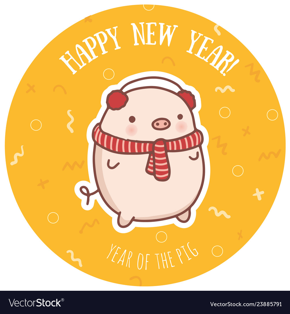 Happy new year funny greeting card design