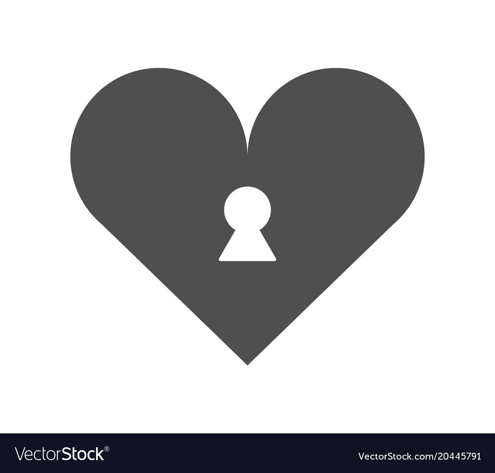 Heart Icon With Key Slot Royalty Free Vector Image
