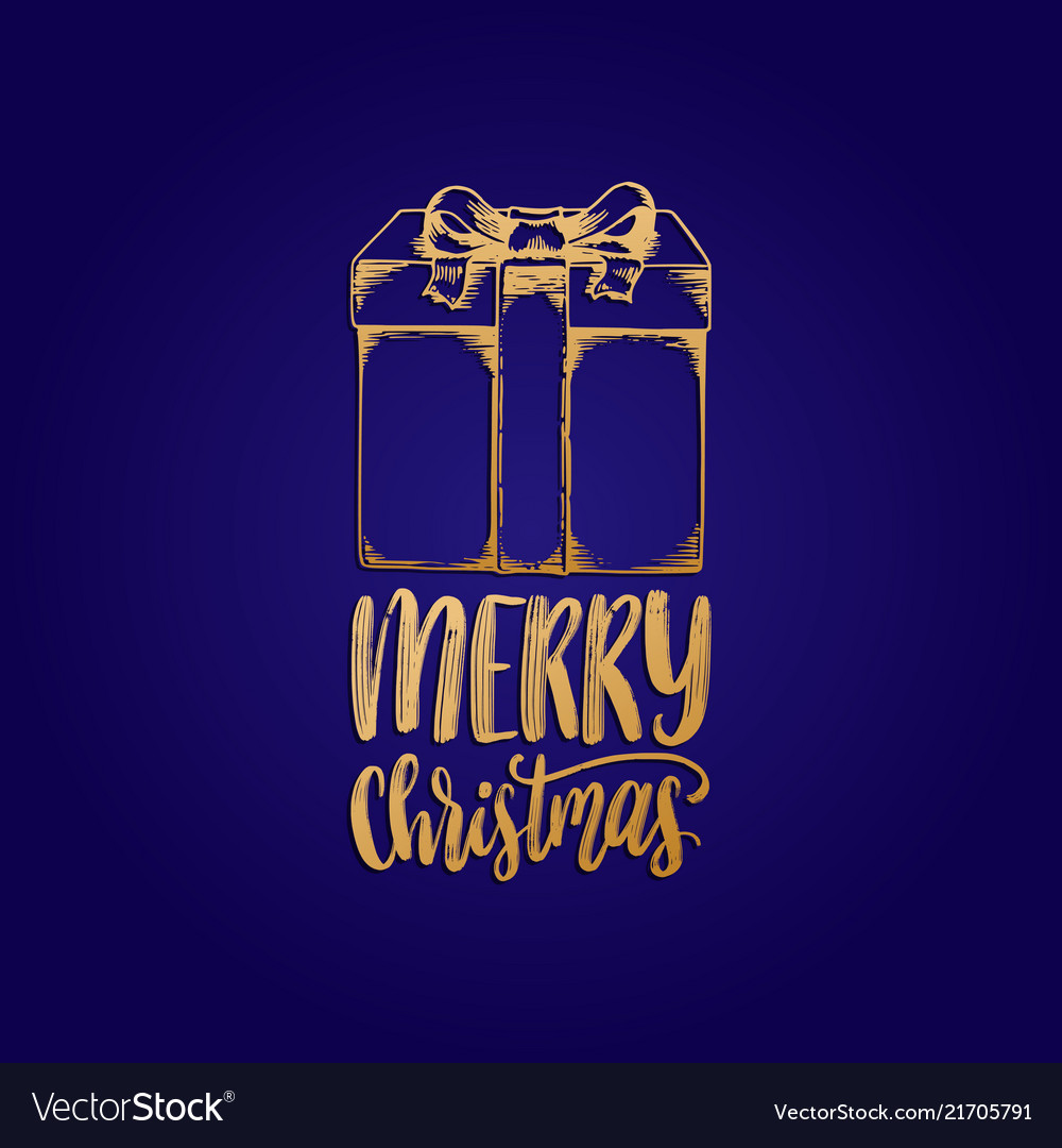 Merry christmas lettering with