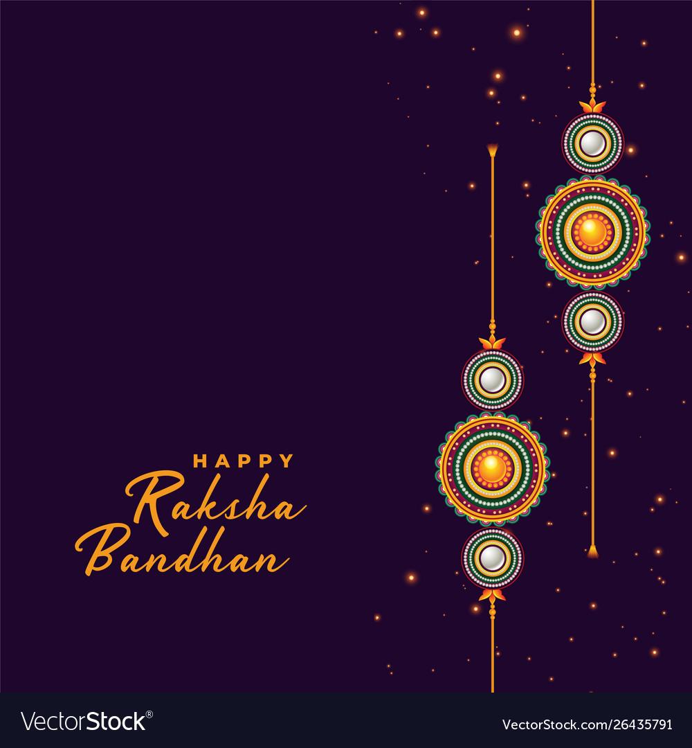 Rakhi background for raksha bandhan festival Vector Image