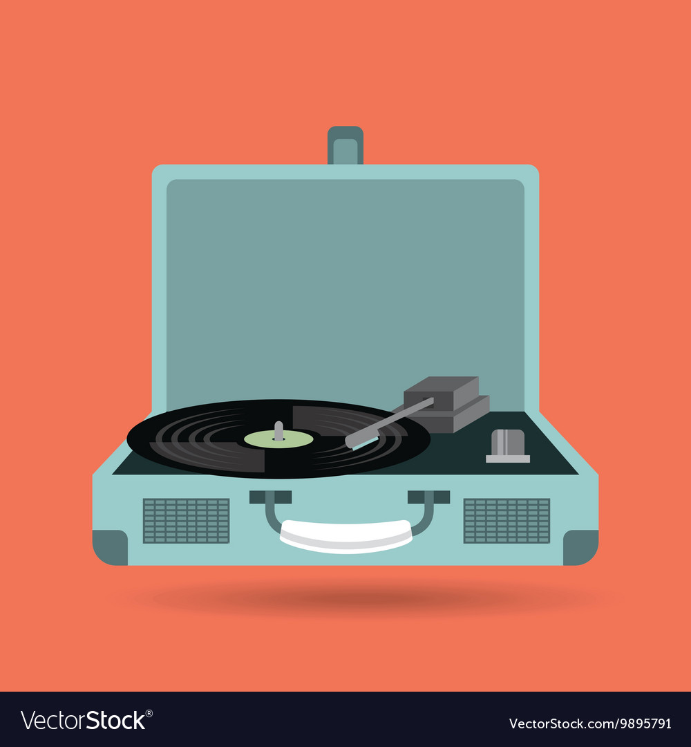 Vinyl player icon Retro and Music design