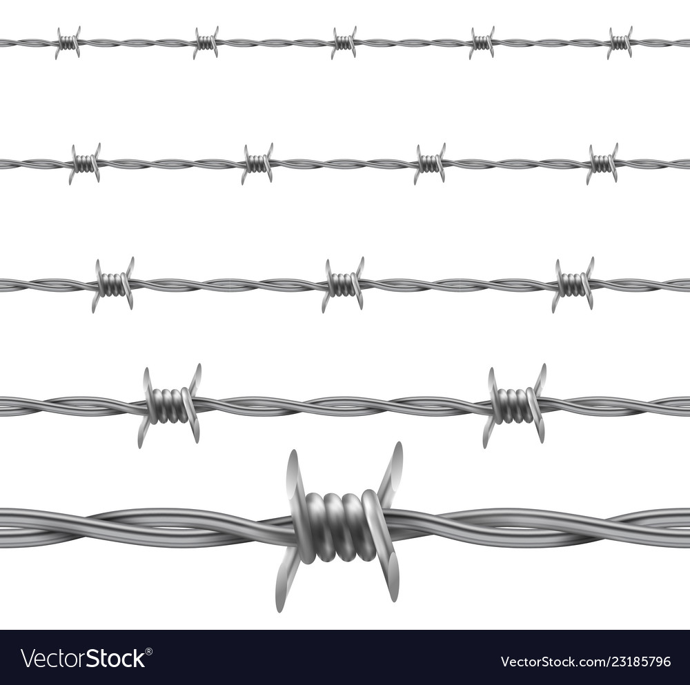 Barbed wire repetitive seamless protective wire
