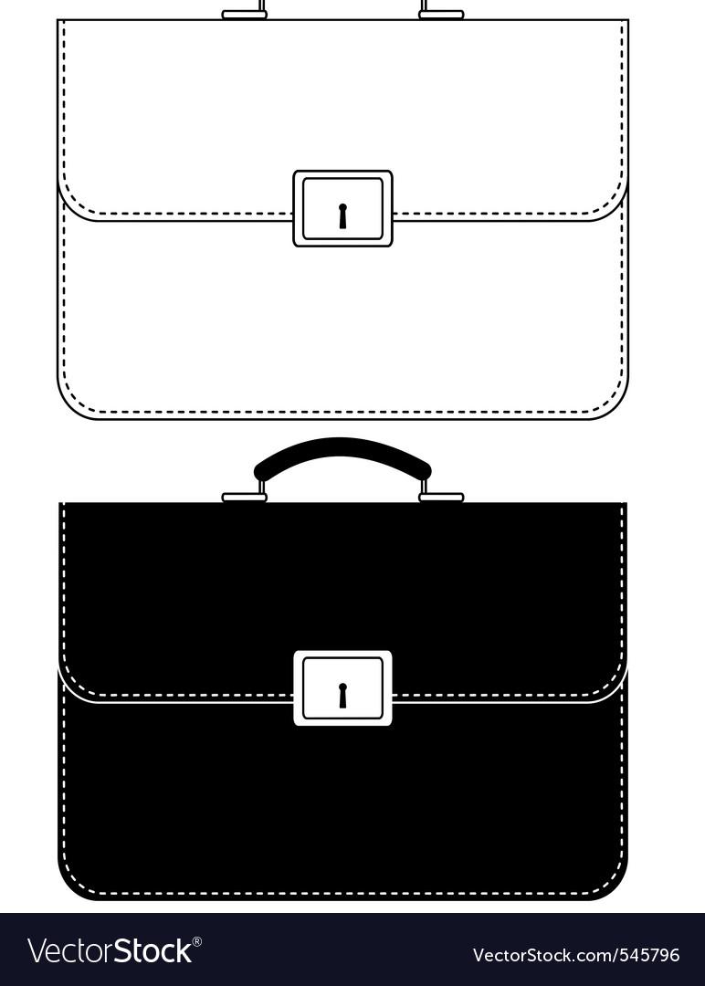 Black leather portfolio vector image