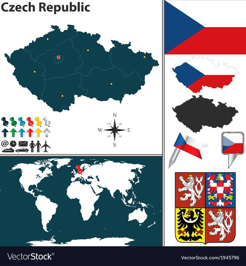 Czech Republic map world