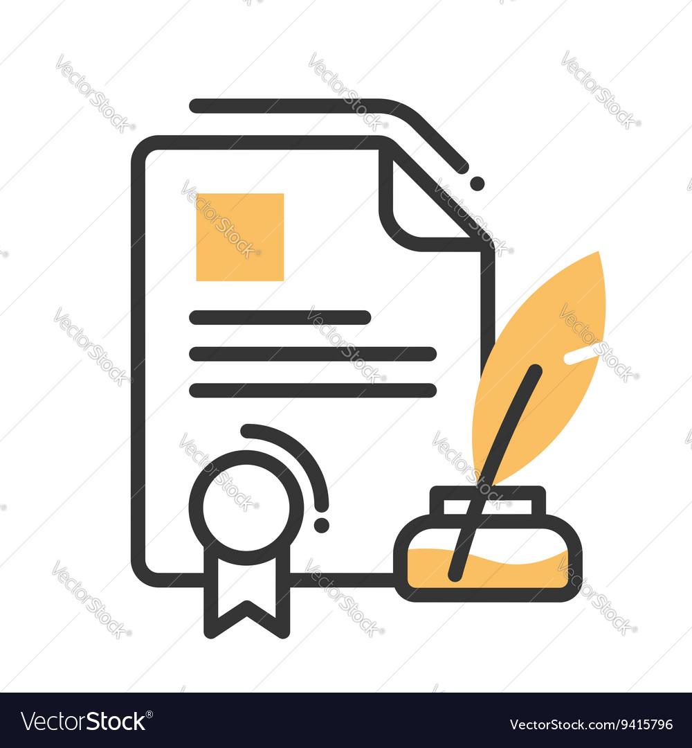 Legal document money single icon