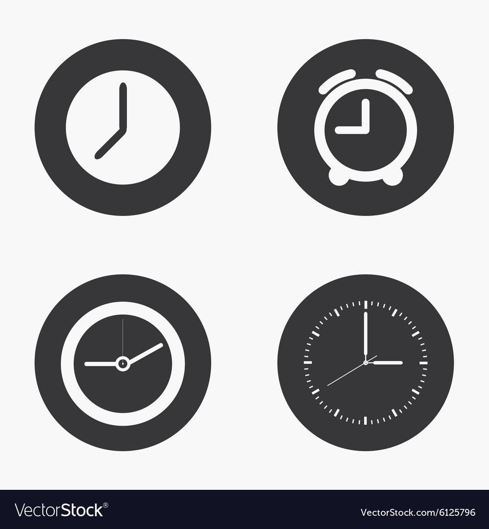 Modern clock icons set