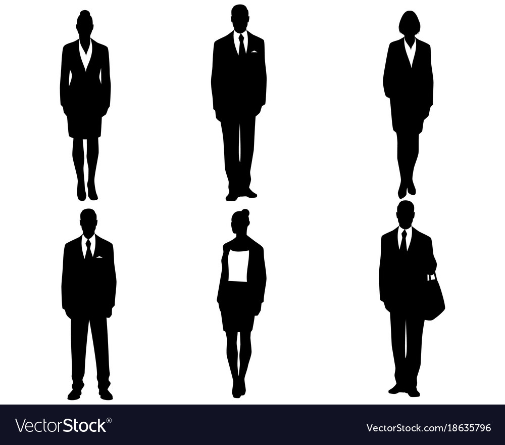 silhouettes of business people royalty free vector image rh vectorstock com old person silhouette vector person vector silhouette portrait