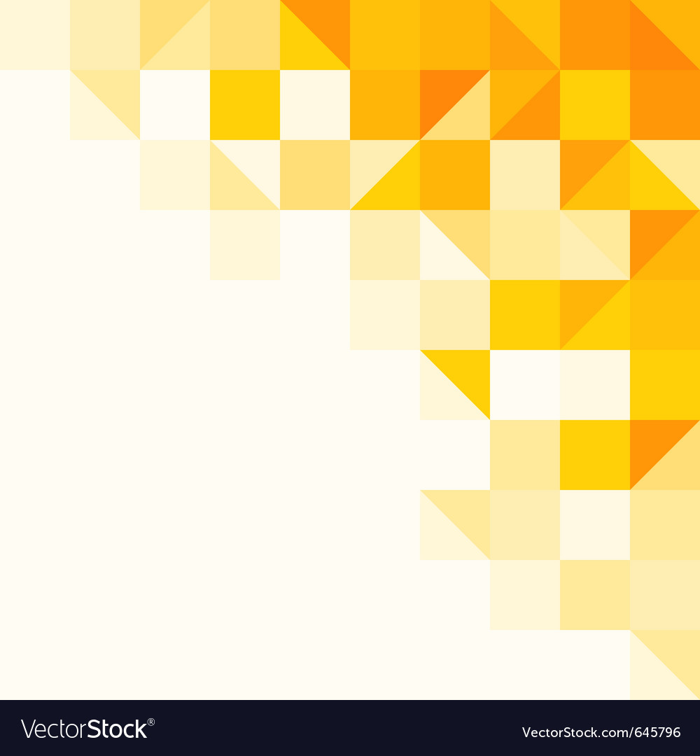 Yellow abstract pattern vector image