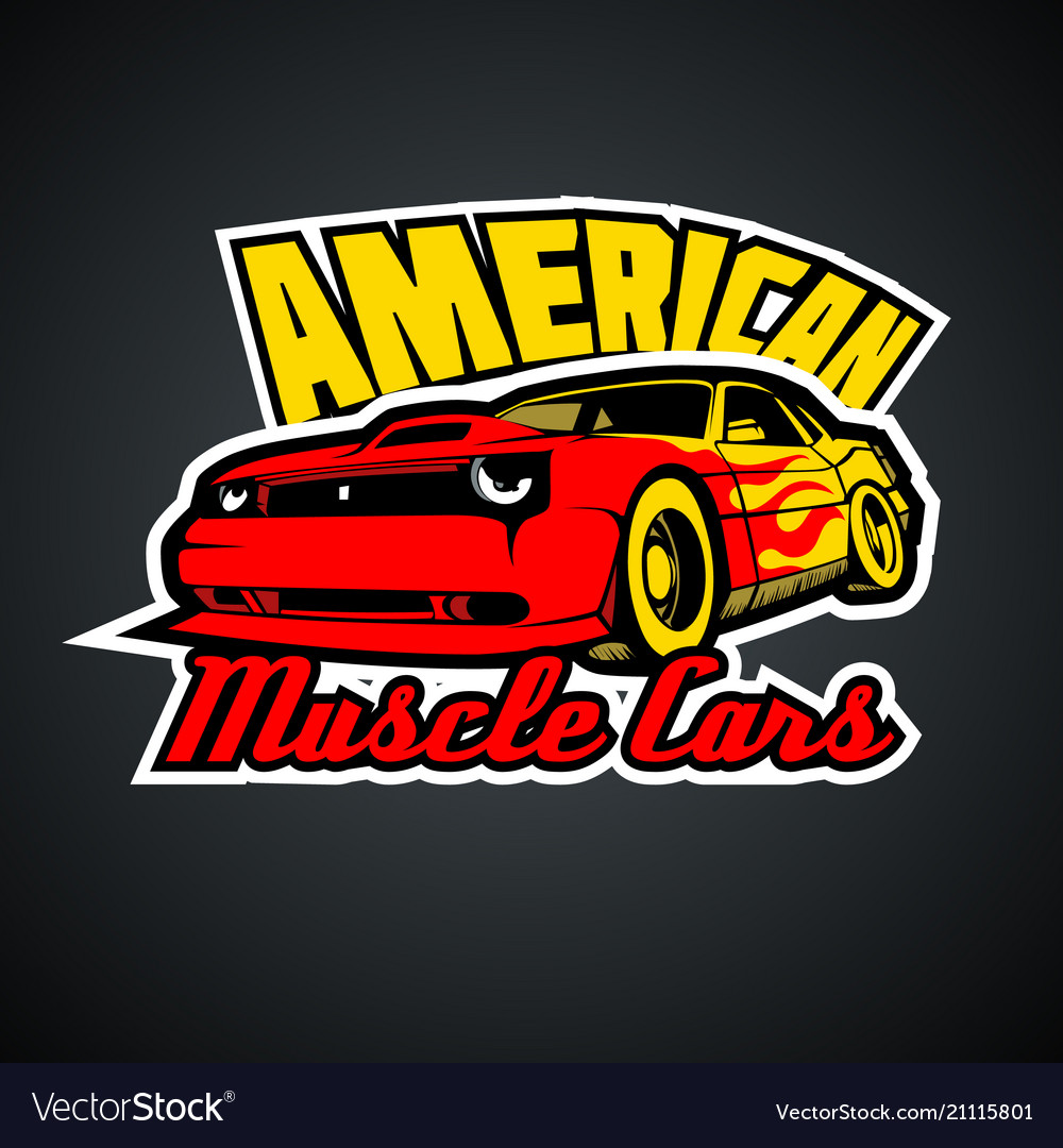 American muscle cars t-shirt print template
