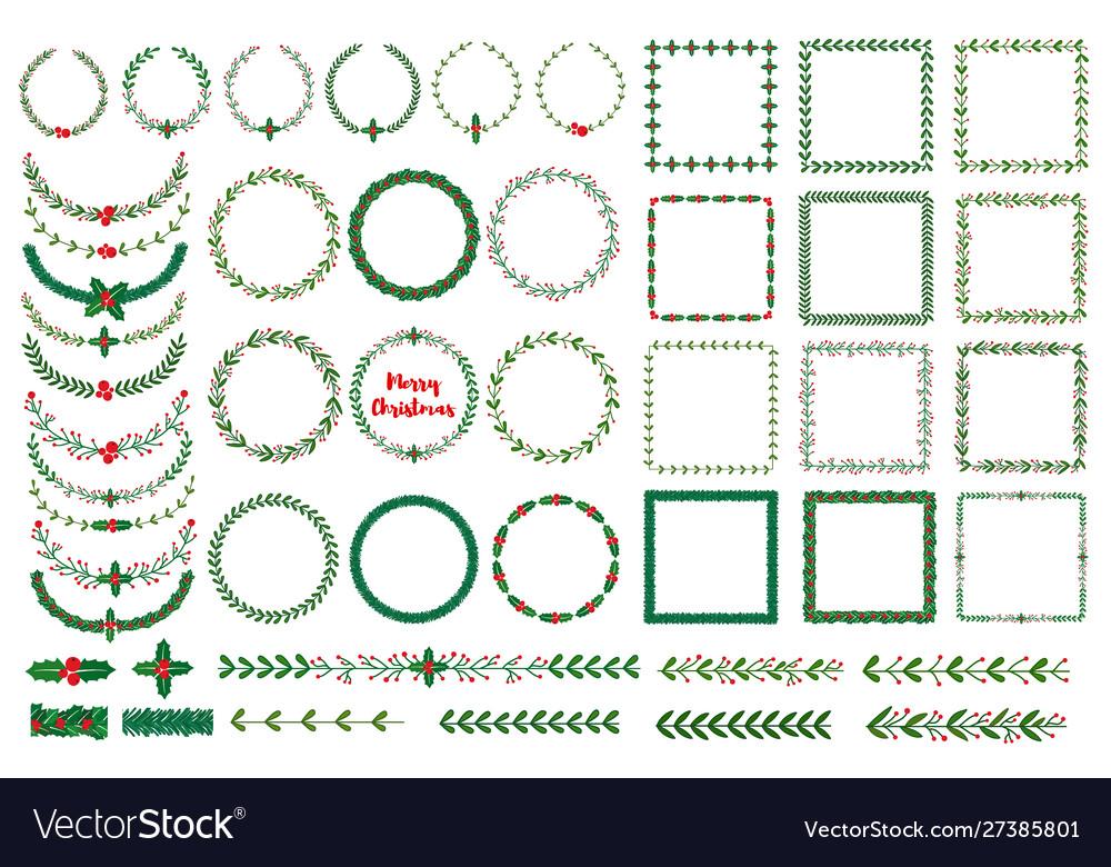 Christmas wreath frames brushes