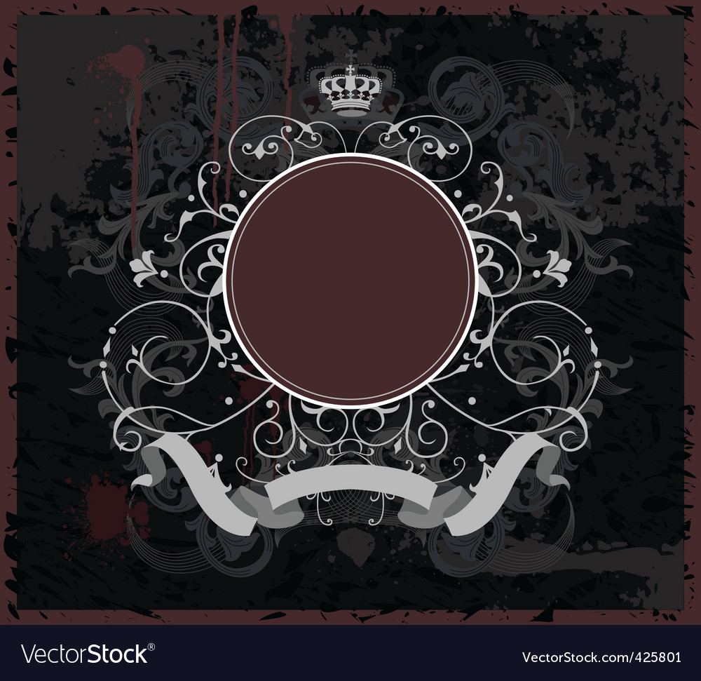 Decorative banner with round element vector image