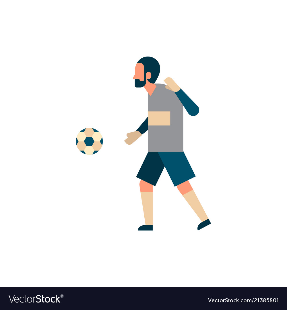 Football player goalkeeper with ball isolated
