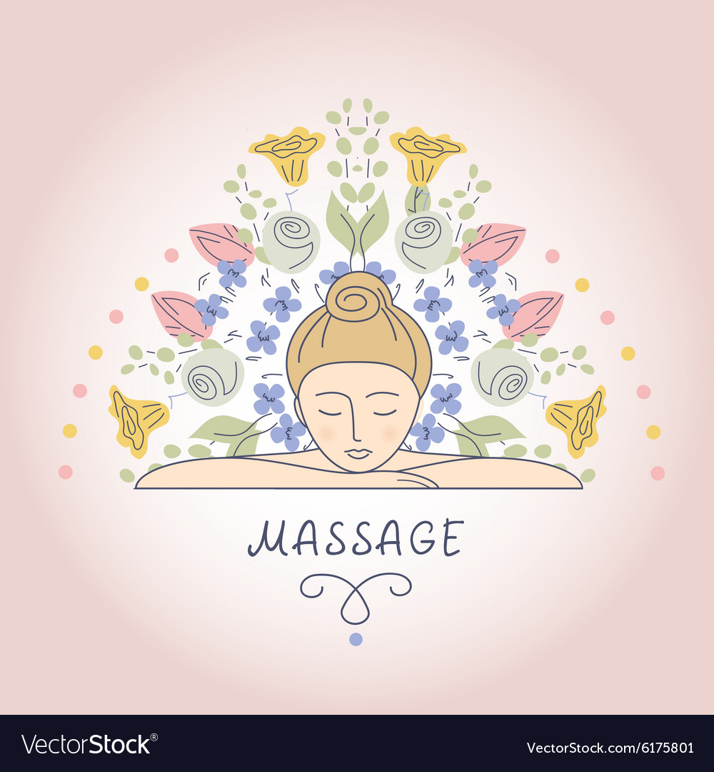 Massage and Relaxation vector image