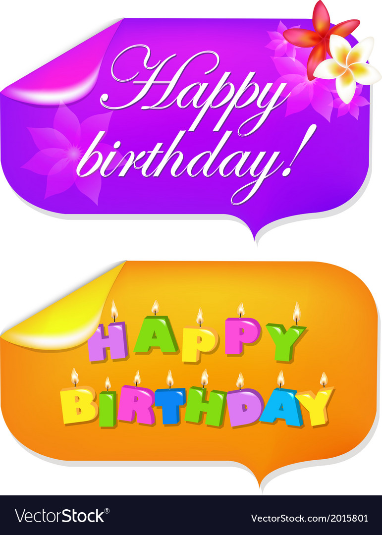Sticker happy birthday vector image