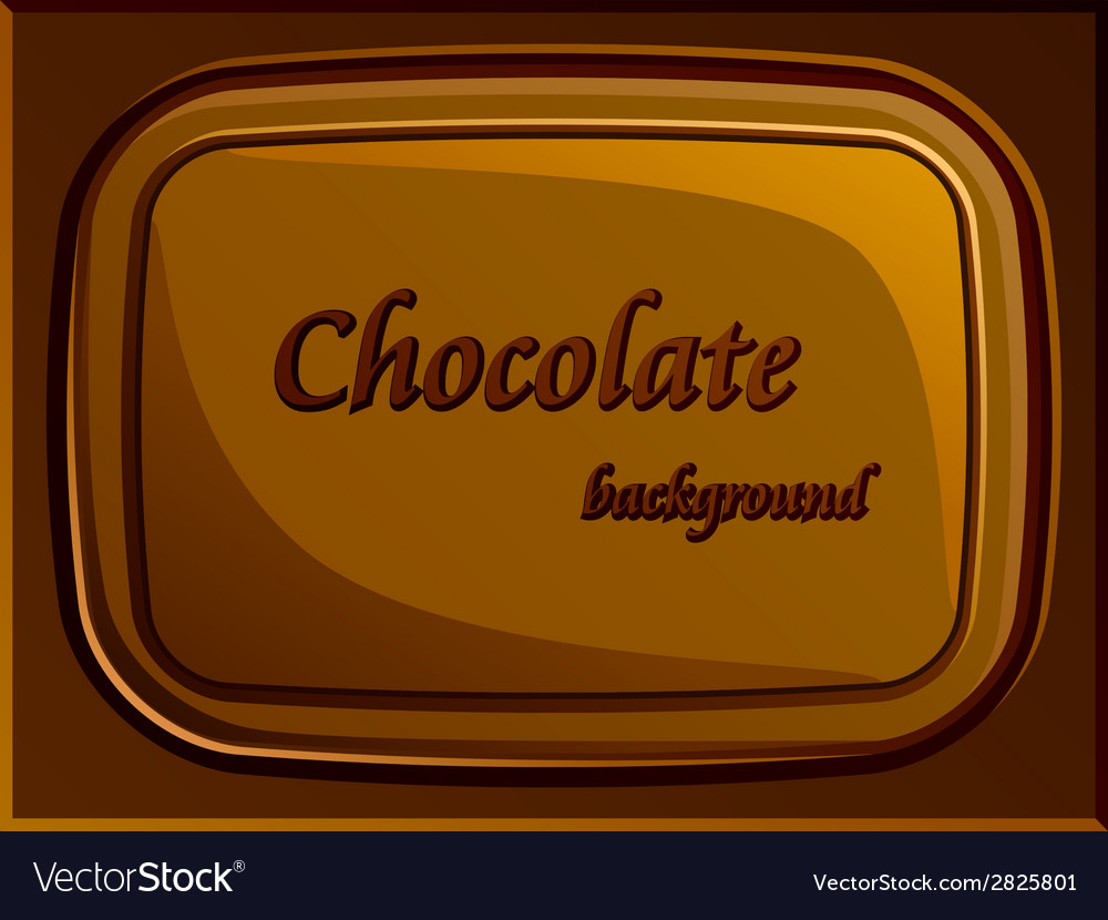 Stylish chocolate bar vector image