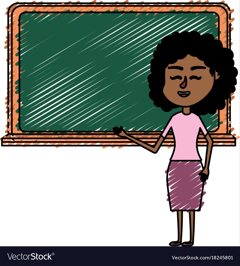 Woman teacher teaching to the student in the