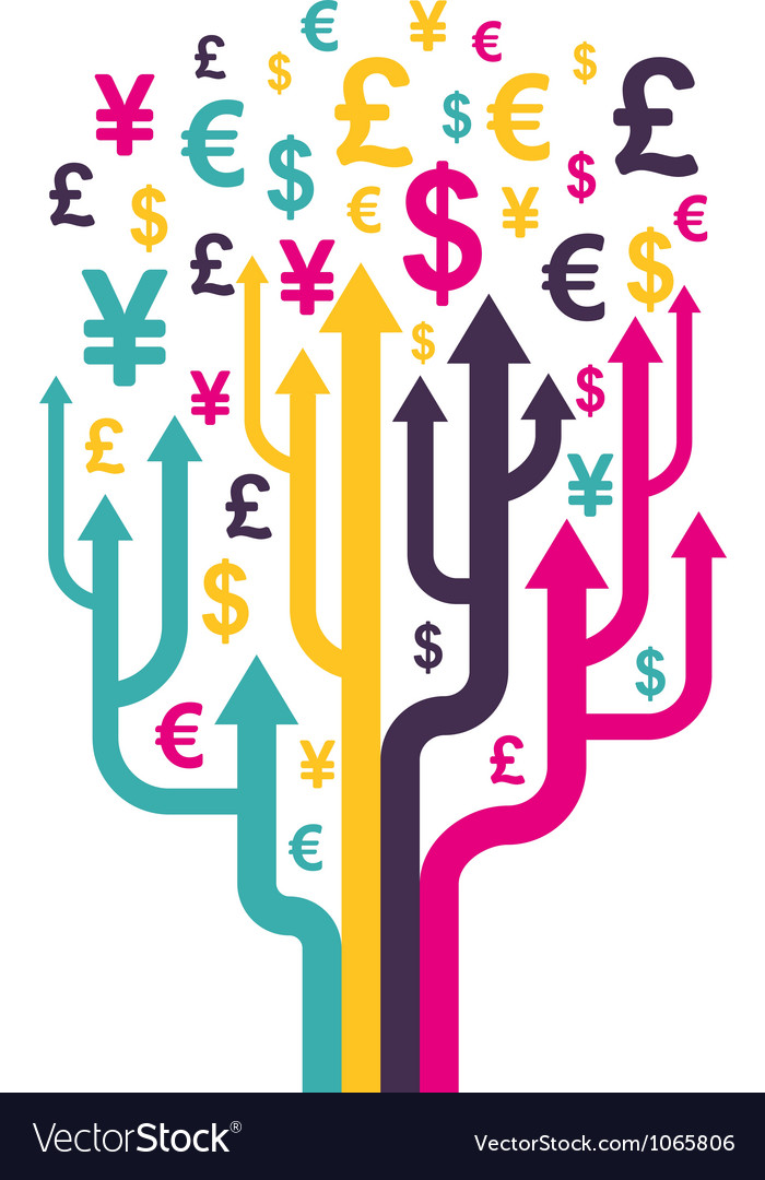 Abstract money tree
