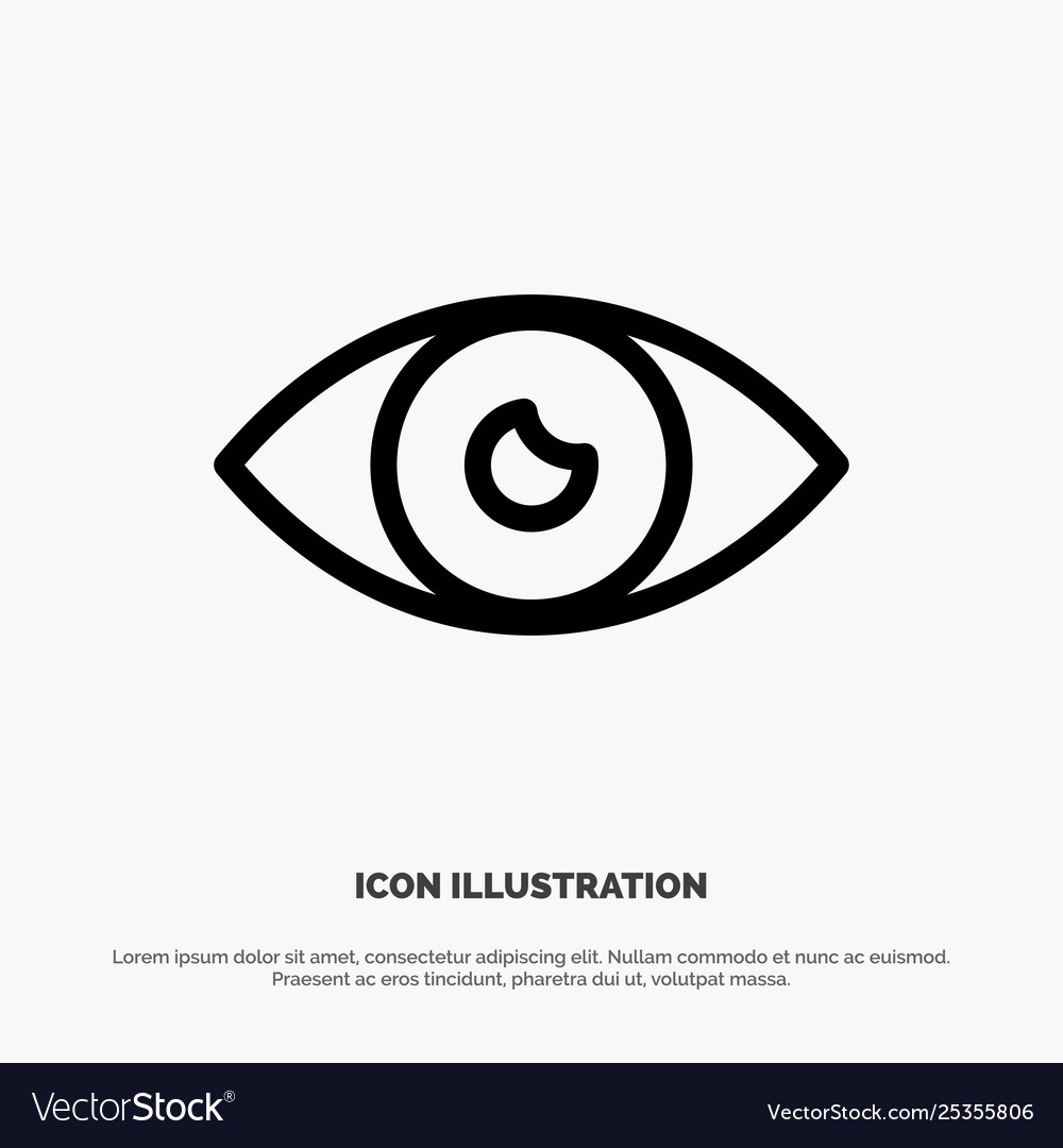 App basic icon design eye mobile line icon