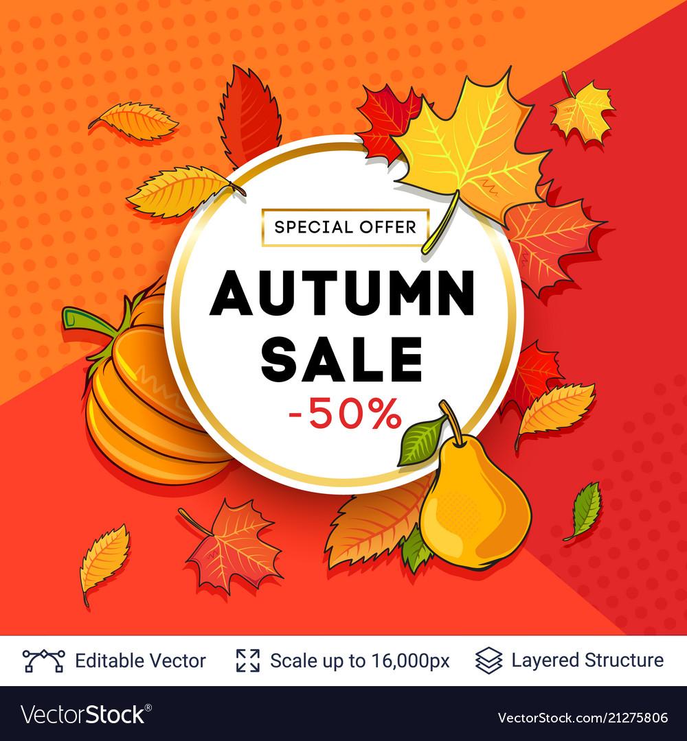 Autumn sale background template