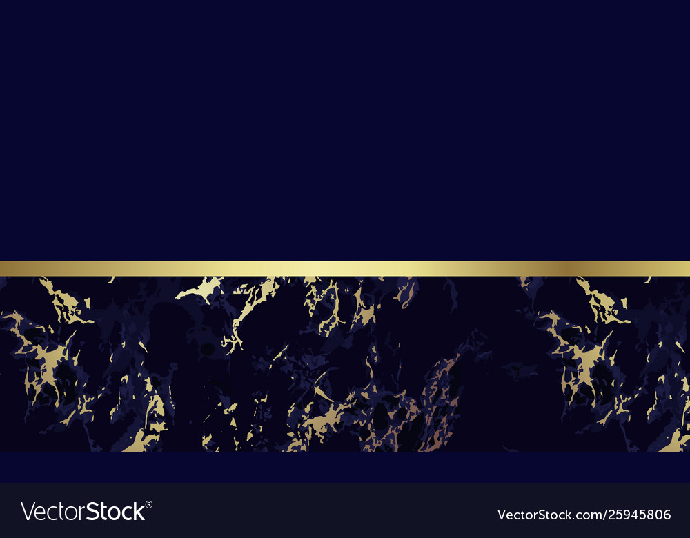 Dark Blue Marble Background With Gold Royalty Free Vector