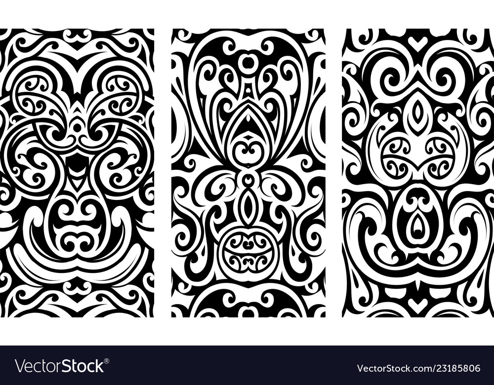 Decorative ornaments with tribal elements