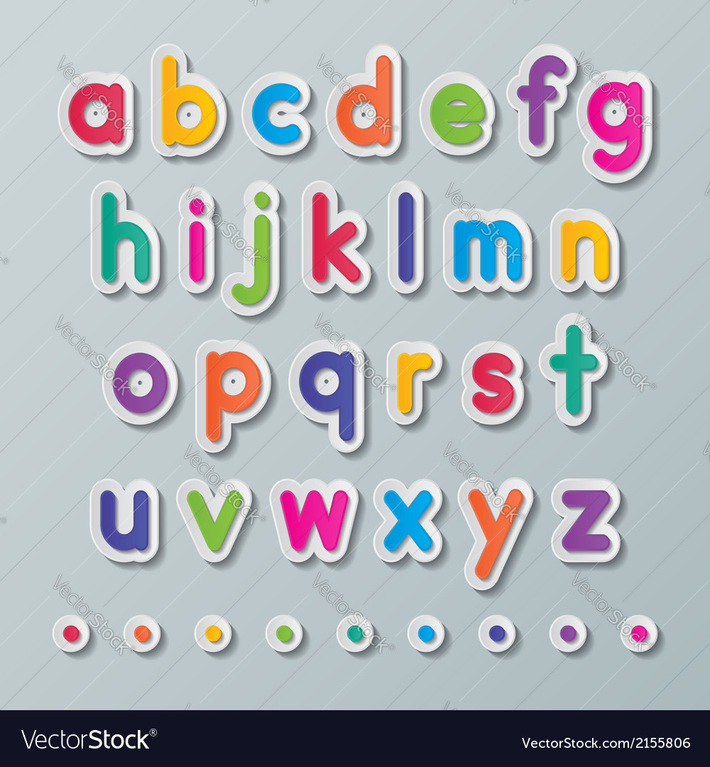 Paper small letters a to z