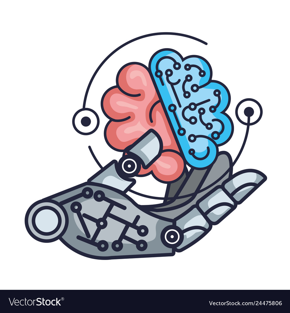 Robotic hand with brain