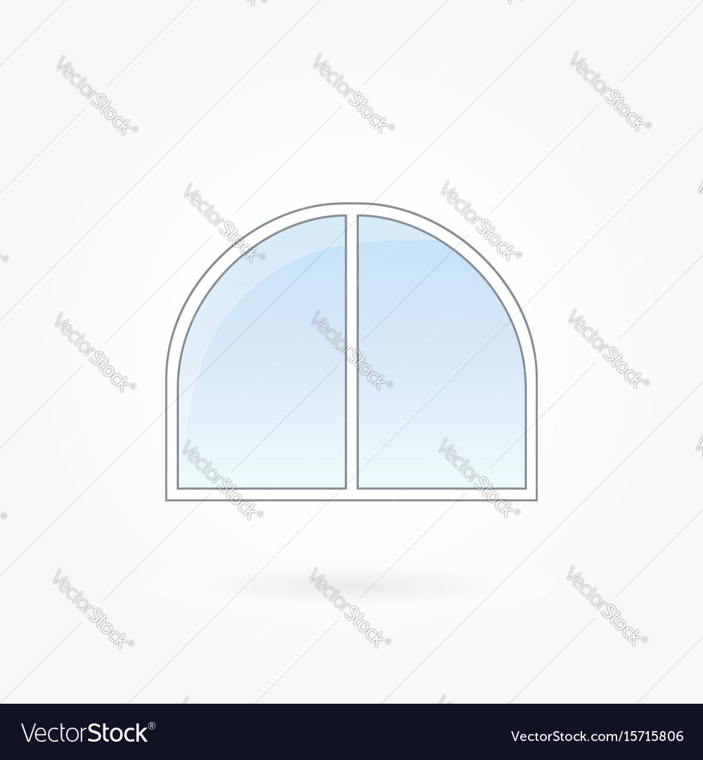 Window frame with rounded corners on eps 10 vector image