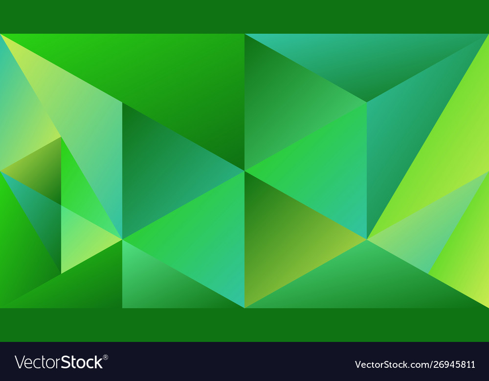 Abstract Geometric Green Gradient Triangle Mosaic