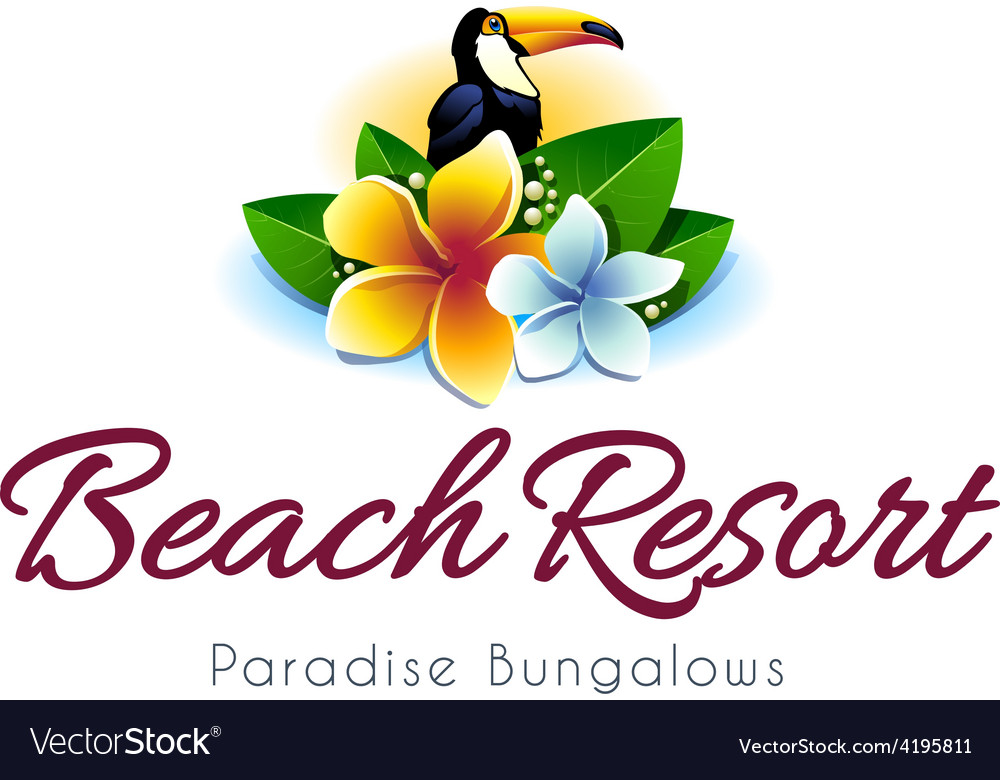 Beach resort logo