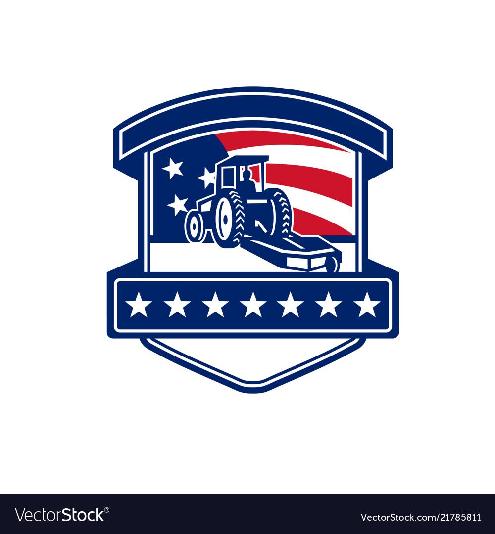 Brush hogging services usa flag badge