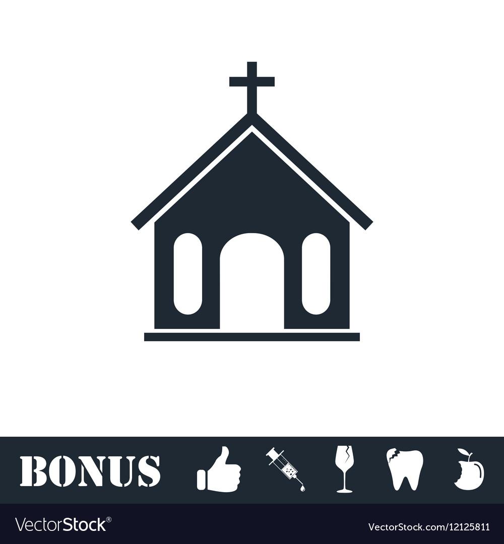 Church icon flat